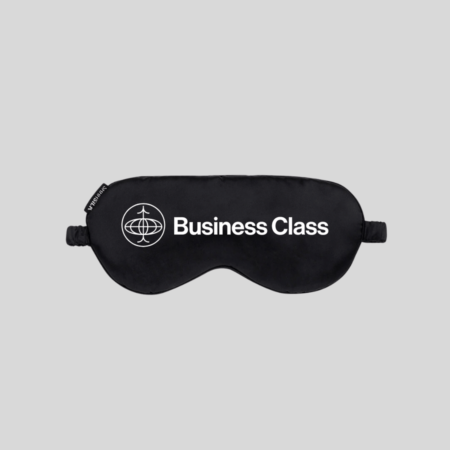 SHHH SILK x BUSINESS CLASS by Sophia Amoruso Black Silk Sleep Mask