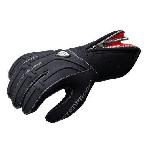 New Tusa Waterproof 5mm 5-Finger Stretch Neoprene Gloves (X-Small) with GlideSkin Interior and a Long Zipper for easy Donning