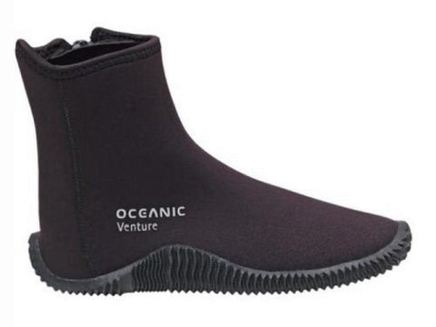 New Oceanic 5.0mm Venture Molded Sole Boots (Size 4) for Scuba Diving, Snorkeling & All Watersports with a FREE Drawstring Mesh Collection Bag.... a $12.95 Value