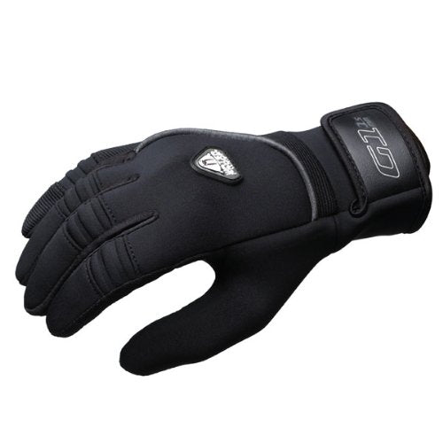 New Tusa Waterproof 1.5mm 5-Finger Stretch Neoprene Gloves with Amara Leather Palm (X-Small)