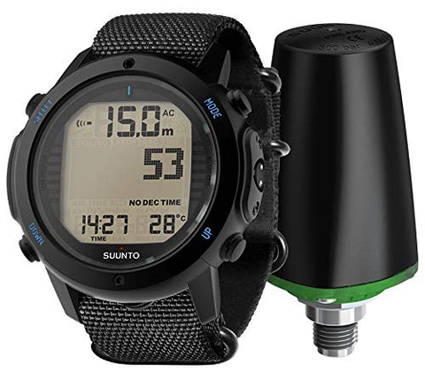Suunto D6I NOVO Black Zulu With USB Wireless Tank Pressure Transmitter Led w/DiveCatalog's Sticker