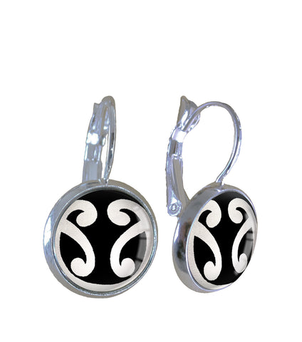 Silver double koru - Earrings - Gone Potty - Gift Shop Dunedin