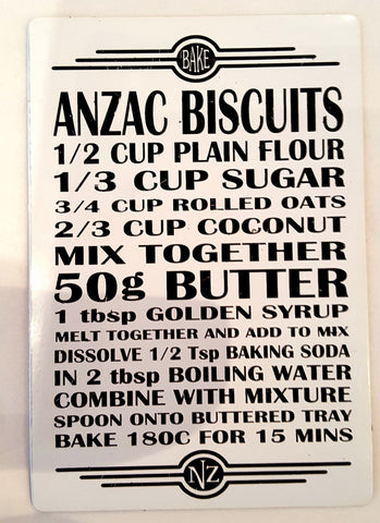 Magnet | Recipe - Anzac Biscuits