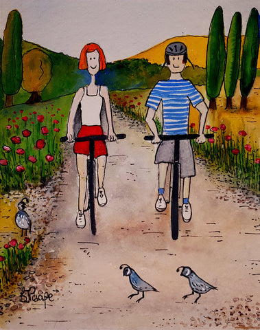 Art Print | Biking holiday | Bridget Paape - gonepottynz