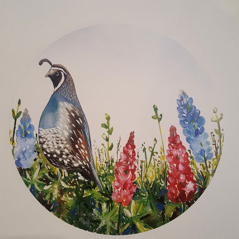 Quail print by Bridget