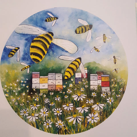Busy bees Print