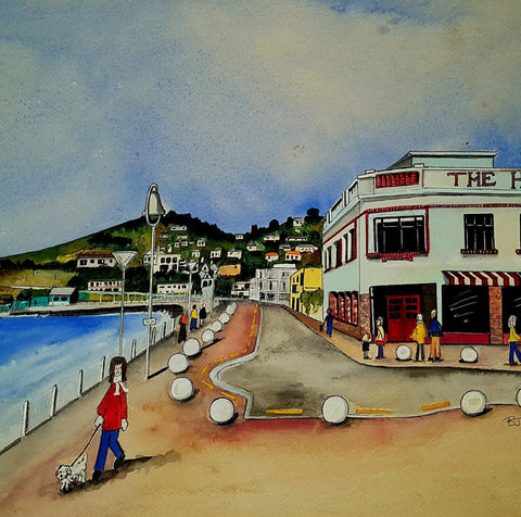 Art Print | Esplanade, St Clair, Dunedin | Bridget Paape - Gone Potty Dunedin