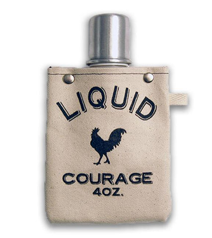 Liquid Courage - Canvas Flask 120ML - gonepottynz