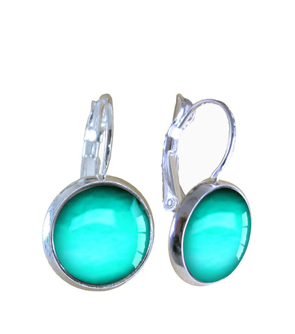 Aqua Glow - Earrings - gonepottynz