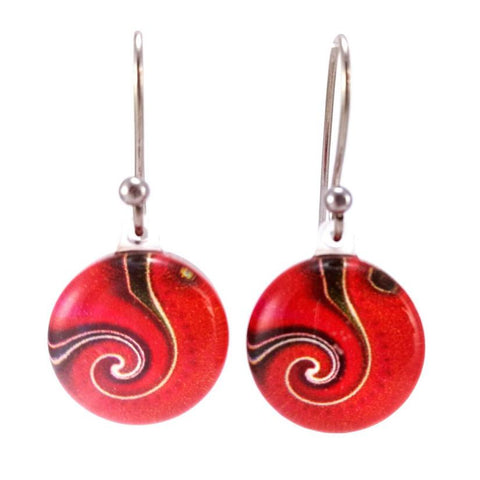 Red Dot Wave - Earrings - gonepottynz