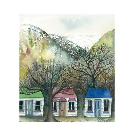 Cottages - Art Print - gonepottynz