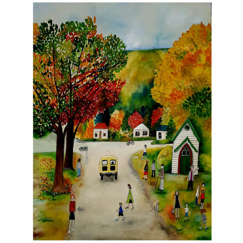 Sunday in Arrowtown - Art Print - gonepottynz
