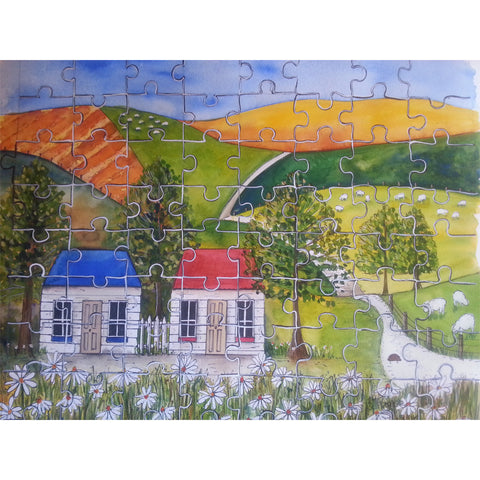 Art Print | Jigsaw Cottages | Bridget Paape - gonepottynz