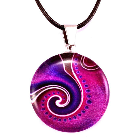 Pendant | Purple Dot Wave - gonepottynz