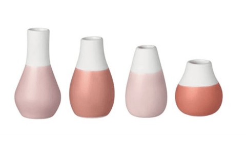 Vases mini - set of 4 - Red Pastel - gonepottynz