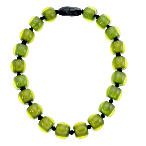 Zsiska Resin plain necklace- Green - Gone Potty - Gift Shop Dunedin
