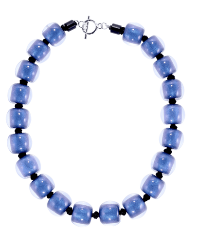 Zsiska Resin plain necklace - Blue - Gone Potty - Gift Shop Dunedin