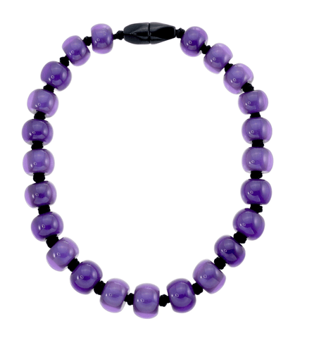 Zsiska Resin plain necklace - Purple - Gone Potty - Gift Shop Dunedin