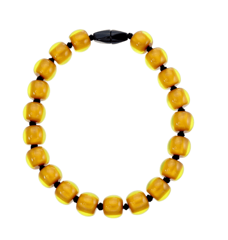 Zsiska Resin plain necklace - Mustard - Gone Potty - Gift Shop Dunedin