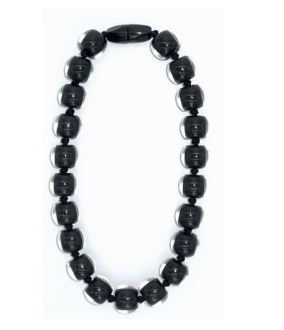 Zsiska Resin plain necklace - Black - Gone Potty - Gift Shop Dunedin