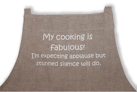 Apron Natural Range- My cooking is fab! - Gone Potty Dunedin