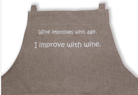 Apron Natural Range- Wine improves with age - Gone Potty Dunedin