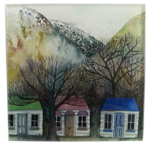Glass Coaster | Arrowtown Cottages | Bridget Paape - gonepottynz