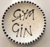 Hand Painted small dish  - Gym-Gin - gonepottynz