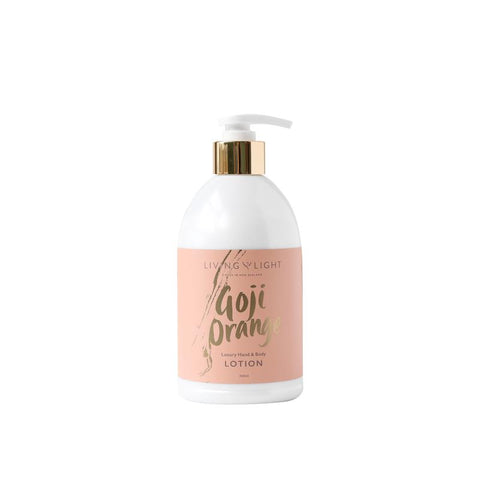 Living Light Luxury Hand & Body Lotion - Goji Orange - gonepottynz
