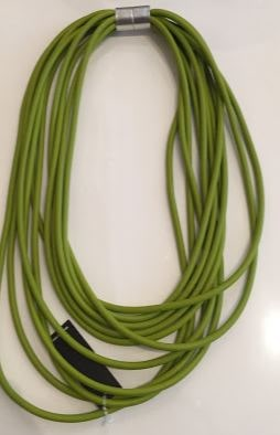 Rubberizes Lightweight Necklace - Lime- gone potty
