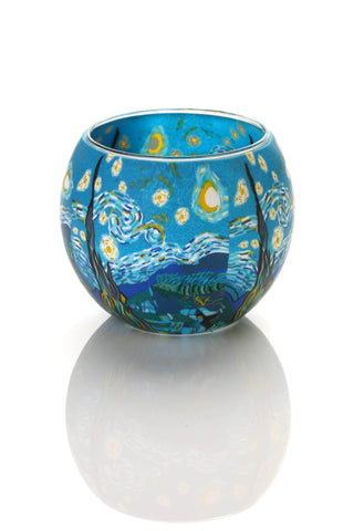 Glass Candle Holder - The Starry Night - gonepottynz