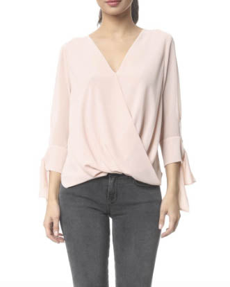 Tie Sleeve Surplice Top - More Colors Available!