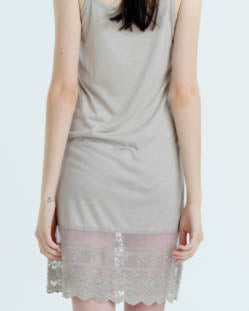Cami Dress With Lace Hem