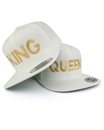 King Baseball Hat - White