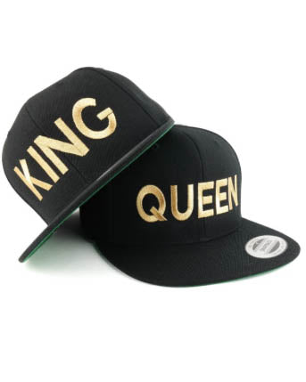 King Baseball Hat - Black