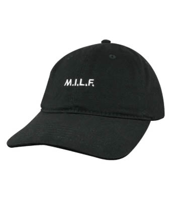 M.I.L.F Baseball Hat - Black