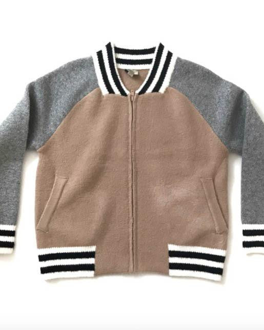 H&D Pink Sweater Bomber Jacket