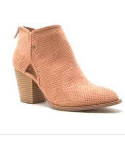 Pointed Toe Bootie With Cut Out Sides - More Colors Available!