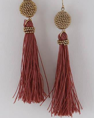 Fairy Tale Tassel Earrings - Rust