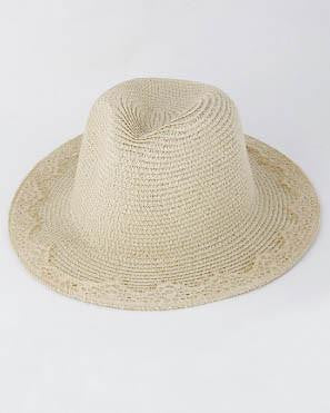 Summer Time Fedora With Lace Brim