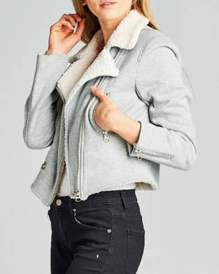 Faux Fur Lined Moto Jacket