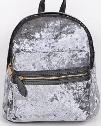 Velvet Backpack - Grey