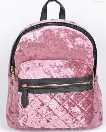 Velvet Backpack - Pink