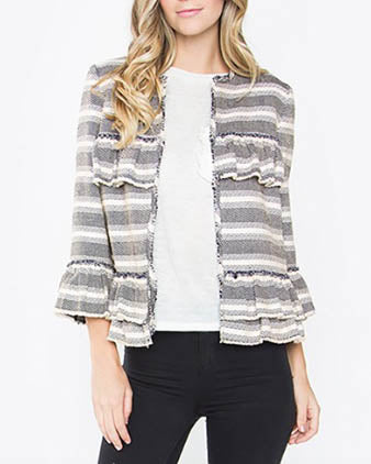 Multicolored Navy Tweed Jacket