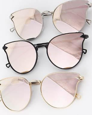 H&D Cateye sunglasses gold rose lens