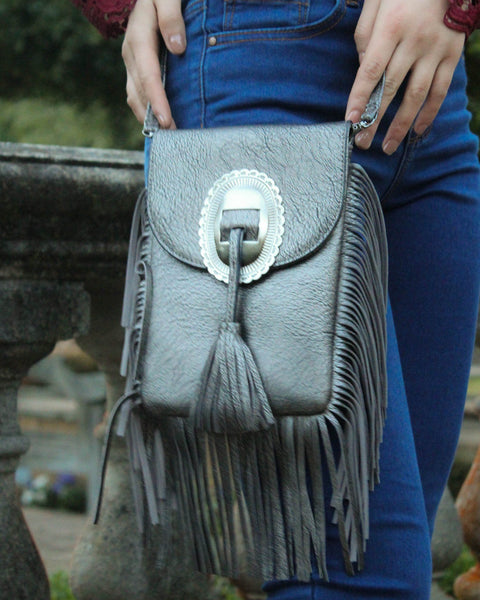 Crossbody Satchel With Tassels