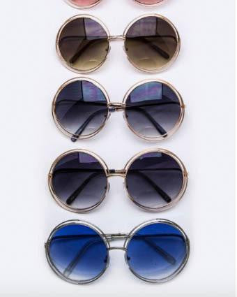 Roxy Double Wire Round Sunglasses