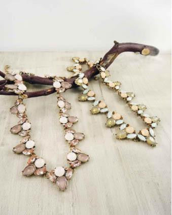Two-Toned Jeweled Statement Necklace