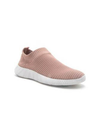 Stretch Knit Low Top Sneakers - Mauve