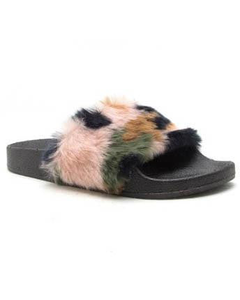 Furry Camouflage Slides